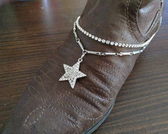 Crystal Star Boot Bracelet