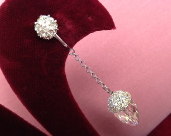 BEST Vendome Drop Crystal Earrings Ever Large Faceted Luster Crystal Rhinestone Pave' Ultra Glam