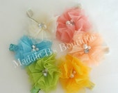 CLOSING SALE Tulle & Glitter hair clip-U Pick Color-spring summer girl accessories-made by Maddie B's Boutique on Etsy