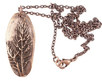 Copper Pendant Necklace Tree of Life Pendant for Men Copper Jewelry Evergreen Tree Jewelry Pine Tree Necklace Gift for Women Nature Lover