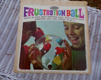 Remco game vintage 1969 FRUSTRATION BALL in original box Frustrating! Maddening! Anyone can play! with rules for play on side of box
