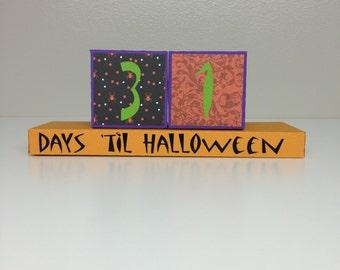 Halloween Countdown Blocks SVG