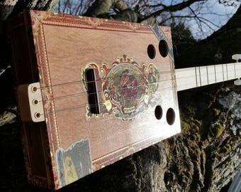 Handmade cigar box guitars