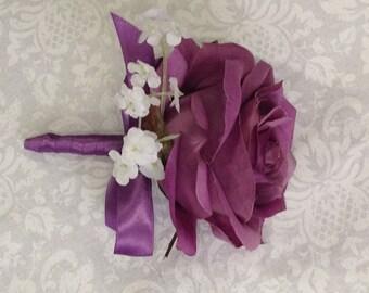 New Silk Wisteria Boutonniere, Wisteria Bout, Wisteria Buttonhole, Wisteria Lapel Flower