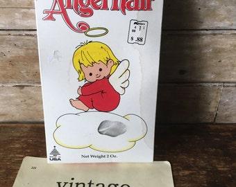 Vintage Box of Christmas Angel Hair White Spun Glass Holiday Decoration USA