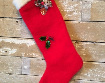 Vintage Christmas Stocking  1950's