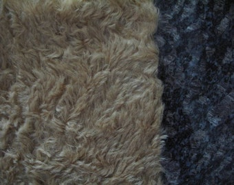 "1/4 yard - 18"" x 27""- Medium Density Mohair with Curly Finish - 3/4"" pile ANTIQUE HONEY color cheswickcompany"