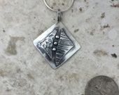 Sterling silver square pendant, Textured element, hammered silver, pendant, Regina Marie Designs