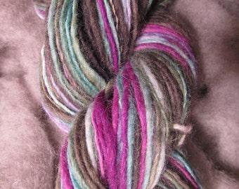 Hand dyed, Hand spun, Shetland singles yarn