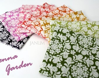 Petite Henna fat quarter bundle from the Strawberry Moon collection by Sandi Henderson for Michael Miller Fabrics - 8 fat quarters