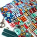 Fat quarter bundle of Gran's sewing basket fabric collection by Heidi Kenney for Robert Kaufman- 6 FQs