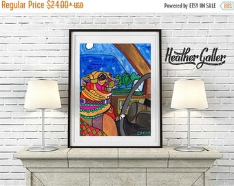 50% Off Today- CHIHUAHUA art dog  Art Print Poster by Heather Galler (Hg297)