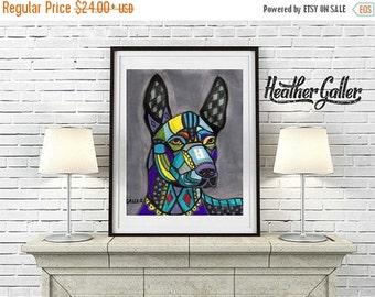 50% Off Today- Mexican Hairless Art Xoloitzcuintli art Art Print Poster by Heather Galler Dog (HG671)