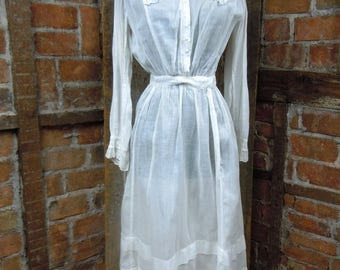 On Sale Edwardian Day Dress/ Antique Victorian Dress/ Titantic here we come/ 827