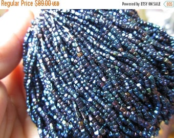 On Sale Czechoslovakian Beads New Old Stock faceted Strung aurora borealis