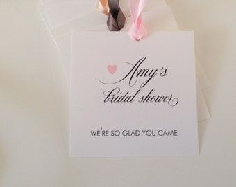 Bridal Shower Gift Tags, Bridal Party Gift Tags, Bridal Shower Tags, Shower Favor Tags