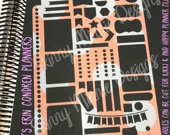 A5 Planner Stencil