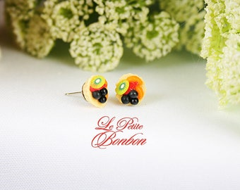 Fruit pie earrings