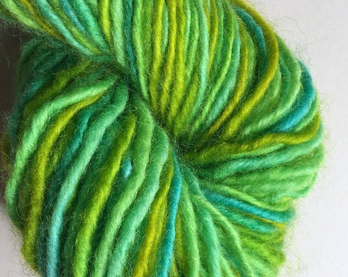 Lime Green Turquoise Maine Lopi Yarn