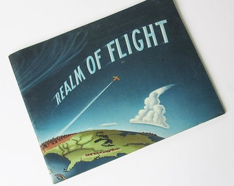 "Vintage Aviation Book ""Realm of Flight"" Pilot's Guide to Weather, Weather Science Book"