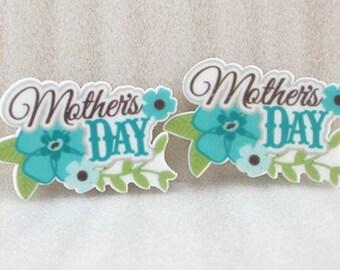 2 Mother's Day Resin Flat back, Resin Flat back, mother's day Resin, School bows, Hair bows, Bows, Headbands, Bow Center