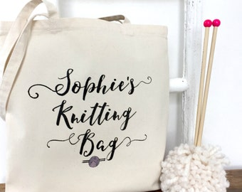 Personalised Knitting Bag | Knitting Bag | Knitting Project Bag | Personalised Knitting Gift | Gift For Knitters