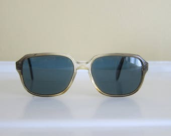 Vintage Rodenstock Sunglasses Clear/Brown Thick Frames