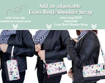 ADD Cross Body/Shoulder Strap to Your Wristlet Wallet • Personalize • ADD ON • Wallet not for Sale • Cross Body Strap