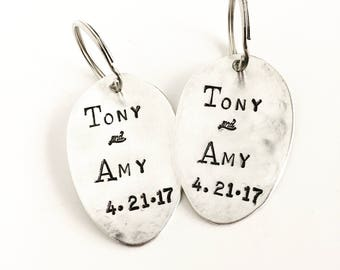 Custom Wedding | Anniversary Couples Key Chain Set