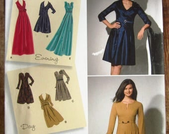 Misses Dress in Two Lengths with Sleeve Variations Sizes 10 12 14 16 18 Simplicity Pattern 2338 UNCUT (Sara's)