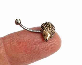 Hedgehog rook tragus helix cartilage piercing ear ring earring