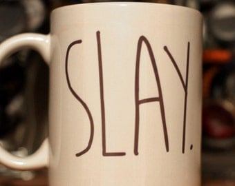 Slay Arrow Design - Color Accent Mug - 11oz or 15oz
