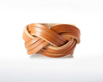 Women's leather bracelet, Gift for Her, Boho Leather Bracelet, Stocking Stuffer, Boho Bracelet, Braided Leather Bracelet, Leather Cuff,