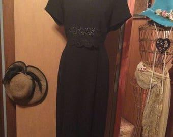 25% Off Sale Vintage Scarlett Black Dress/ Size 9/10
