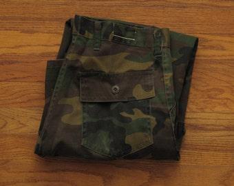 vintage camouflage cargo pants