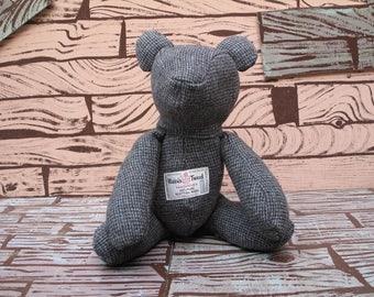 hand made Harris tweed teddy bear