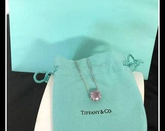 TIFFANY & Co Necklace Lavendar AMETHYST Sterling Retail 710.00!