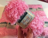 FREE Shipping Available on Light Pink Yarn w Sparkle Sundance Shaggy Shimmer Bubblegum Pink Fluffy Fuzzy Furry Type of Eyelash Yarn