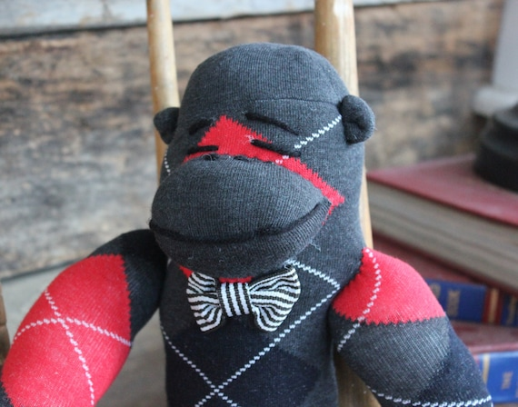 Stuffed Sock Monkey Gentleman