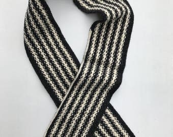 HERITAGE: Hand Knit One Of A Kind Wool Scarf