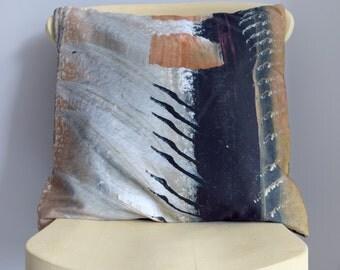 Abstract print cushion