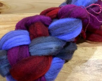 Soft wool 4 oz Mixed BFL  SPINNING combed top , wet felting, fiber arts