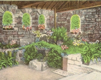 Unused Vintage Linen Postcard  The FOUNTAIN OF YOUTH St Augustine Florida