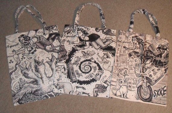 Tote bag by david jablow doodle pad art canvas 18x13 solutioingenieria Image collections