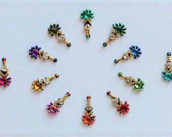 Bindi Self Adhesive Indian Dots Bollywood Beads Rhinestone