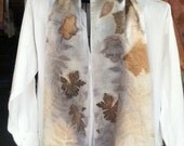 shimmery charmeuse SILK eco dye scarf 14 x 72