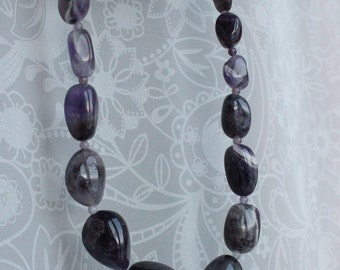 Amethyst lace agate necklace