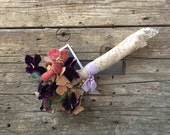 Vintage Velvet Millinery Flower Bouquet, Pansies
