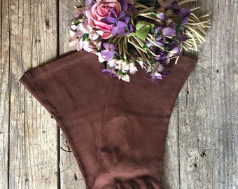 1960s Faux Doeskin Gloves, Brown