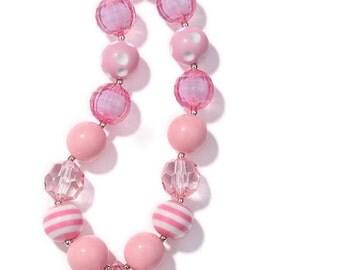 Little DIVA Pink Bubble Gum Necklace
